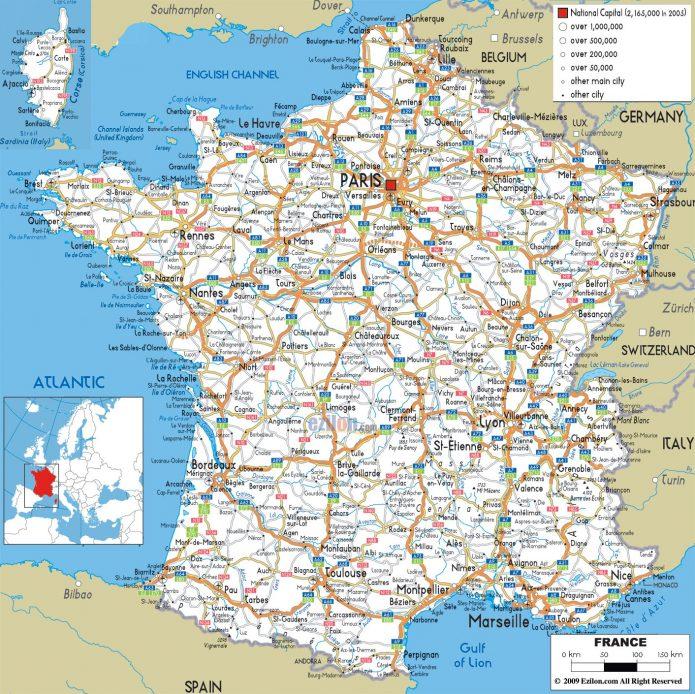 Harta Rutiera Franta Ziua Cargo